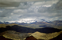 Himalayan range from high pass in Tibet.