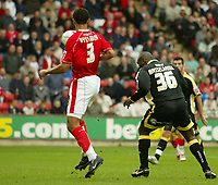 Photo: Aidan Ellis.<br /> Barnsley v Cardiff City. Coca Cola Championship. 29/09/2007.<br /> Cardiff's Jimmy Floyd Hasselbaink scores the first goal