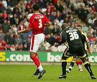Photo: Aidan Ellis.<br /> Barnsley v Cardiff City. Coca Cola Championship. 29/09/2007.<br /> Cardiff's Jimmy Floyd Hasselbaink scores the first goal