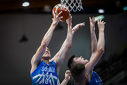 Dusanic  Maj of Slovenia and Babsek Vrecko  Mark of Slovenia during basketball match between National teams of Greece and Slovenia in the Group Phase C of FIBA U18 European Championship 2019, on July 29, 2019 in  Nea Ionia Hall, Volos, Greece. Photo by Vid Ponikvar / Sportida