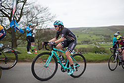 Rebeca Durrell (GBR) of Drops Cycling Team climbs up the Cote de Lofthouse during the Tour de Yorkshire - a 122.5 km road race, between Tadcaster and Harrogate on April 29, 2017, in Yorkshire, United Kingdom.