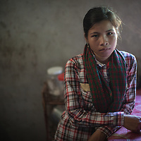 Portrait of a young woman farmer in Cambodia