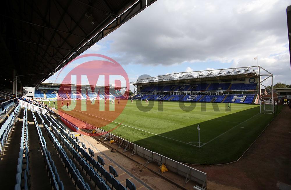 The match kicks-off between Peterborough United and Cheltenham Town played behind closed doors - Mandatory by-line: Joe Dent/JMP - 05/09/2020 - FOOTBALL - Weston Homes Stadium - Peterborough, England - Peterborough United v Cheltenham Town - Carabao Cup