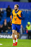 Chelsea forward Gonzalo Higuain (9) warms up the The FA Cup match between Chelsea and Manchester United at Stamford Bridge, London, England on 18 February 2019.