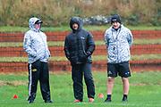 WELLINGTON, NEW ZEALAND -May 25: Chris Gibbes, Carlos Spencer, Jason Holland at Hurricanes training run, May 25, 2020 in Wellington, New Zealand. Copyright Photo: Elias Rodriguez / www.photosport.nz