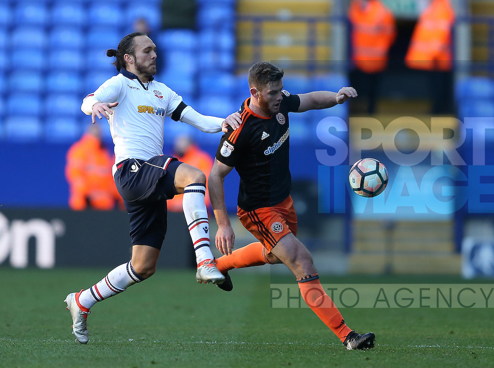 Jack O'Connell of Sheffield Utd during the FA Cup Second round match at the Macron Stadium, Bolton. Picture date: December 4th, 2016. Pic Simon Bellis/Sportimage