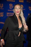 Danielle Mason at  the British Curry Awards, at Evolution Battersea park London.