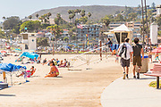 Lifeguard Watching Over the Crowd at Main Beach Park Laguna Beach