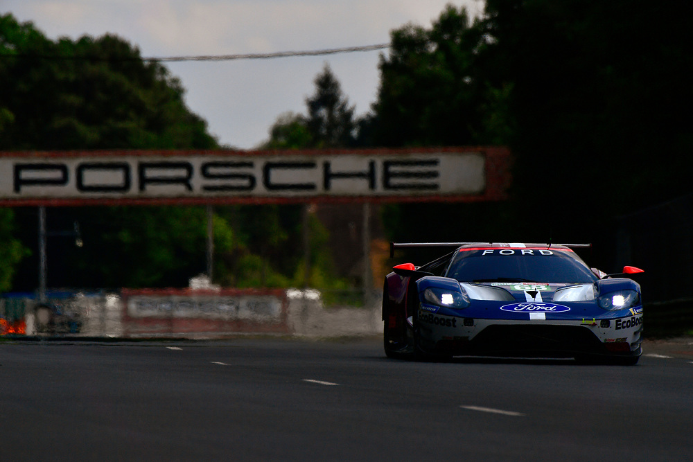 #68 Ford Chip Ganassi Racing Ford GT: Joey Hand, Dirk Müller, Sébastien Bourdais<br /> Wednesday 13 June 2018<br /> 24 Hours of Le Mans<br /> 2018 24 Hours of Le Mans<br /> Circuit de la Sarthe  FR<br /> World Copyright: Scott R LePage