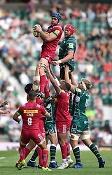 James Horwill of Harlequins wins the ball at a lineout - Mandatory byline: Patrick Khachfe/JMP - 07966 386802 - 02/09/2017 - RUGBY UNION - Twickenham Stadium - London, England - London Irish v Harlequins - Aviva Premiership