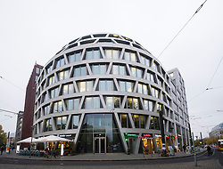 Modern architecture office building at Hackescher Mart in Mitte Berlin Germany