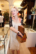 JESSICA DE LOTZ, Smythson Royal Wedding exhibition preview. Smythson together with Janice Blackburn has commisioned 5 artist designers to create their own interpretations of  Royal wedding memorabilia. Smythson. New Bond St. London. 5 April 2011.  -DO NOT ARCHIVE-© Copyright Photograph by Dafydd Jones. 248 Clapham Rd. London SW9 0PZ. Tel 0207 820 0771. www.dafjones.com.