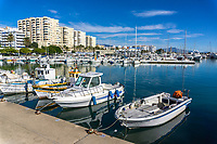 Estepona, Malaga Province, Spain, marina, December, 2018, 201812080111<br /> <br /> Copyright Image from Victor Patterson, Belfast, UK, BT9 5HG<br /> <br /> t: +44 28 9066 1296 (from Rep of Ireland 048 9066 1296)<br /> m: +44 7802 353836<br /> <br /> victorpattersonbelfast@gmail.com<br /> www.victorpatterson.com<br /> <br /> Please see my Terms and Conditions of Use at https://www.victorpatterson.com/page2<br /> It is IMPORTANT that you familiarise yourself with them.<br /> <br /> Images used on the Internet incur an additional cost and must be visibly watermarked i.e. © Victor Patterson within the body of the image and copyright metadata must not be deleted. Images used on the Internet have a size restriction of 4kbs and are chargeable at rates available at victorpatterson.com.<br /> <br /> This image is only available for the use of the download recipient i.e. television station, newspaper, magazine, book publisher, etc, and must not be passed on to any third party. It is also downloaded on condition that each and every usage is notified within 7 days to victorpattersonbelfast@gmail.com.<br /> <br /> The right of Victor Patterson to be identified as the author is asserted in accordance with The Copyright Designs And Patents Act (1988). All moral rights are asserted.