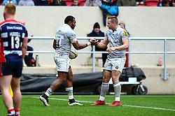 Semesa Rokoduguni of Bath Rugby celebrates his try with team mates - Mandatory by-line: Dougie Allward/JMP - 26/02/2017 - RUGBY - Ashton Gate - Bristol, England - Bristol Rugby v Bath Rugby - Aviva Premiership