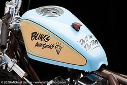 "Bill Dodge's Blings Motard, 93"" S&SGenerator Shovel, built in 2002. Photographed by Michael Lichter in Sturgis, SD. August 1, 2020. ©2020 Michael Lichter"