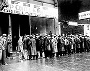 Soup Kitchen for unemployed in New York circa 1930