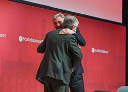 Pictured: Mark Drakeford with Scottish Labour leader Richard Leonard after the Welsh First Minister's speech.<br /> <br /> First Minister of the Welsh Assembly Mark Drakeford speaks to the the Scottish Labour spring conference 2019 in Dundee.<br /> <br /> © Dave Johnston / EEm