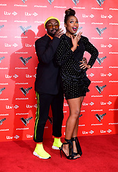 will.i.am (left) and Jennifer Hudson attending the Voice UK launch at the W Hotel, London.