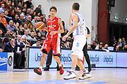 DESCRIZIONE : Campionato 2014/15 Serie A Beko Dinamo Banco di Sardegna Sassari - Giorgio Tesi Group Pistoia<br /> GIOCATORE : Davide Moretti<br /> CATEGORIA : Palleggio<br /> SQUADRA : Giorgio Tesi Group Pistoia<br /> EVENTO : LegaBasket Serie A Beko 2014/2015 <br /> GARA : Dinamo Banco di Sardegna Sassari - Giorgio Tesi Group Pistoia<br /> DATA : 01/02/2015 <br /> SPORT : Pallacanestro <br /> AUTORE : Agenzia Ciamillo-Castoria/C.Atzori <br /> Galleria : LegaBasket Serie A Beko 2014/2015