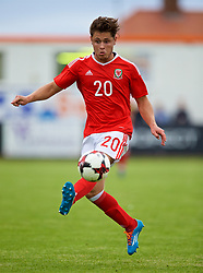 RHYL, WALES - Monday, September 4, 2017: Wales' Keiran Evans during an Under-19 international friendly match between Wales and Iceland at Belle Vue. (Pic by Paul Greenwood/Propaganda)