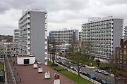 A view of the Loughborough estate from the roof of Elmore House on the Loughborough Estate in Brixton, United Kingdom.