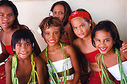 Polynesian children, Tahiti