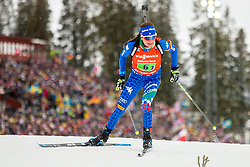 March 16, 2019 - –Stersund, Sweden - 190316 Nicole Gontier of Italy competes in the Women's 4x6 km Relay during the IBU World Championships Biathlon on March 16, 2019 in Östersund..Photo: Johan Axelsson / BILDBYRÃ…N / Cop 245 (Credit Image: © Johan Axelsson/Bildbyran via ZUMA Press)