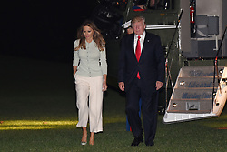 May 27, 2017 - Washington, District of Columbia, United States of America - United States President Donald Trump and first lady Melania Trump return to the White House on May 27, 2017 in Washington, DC following their overseas trip..Credit: Olivier Douliery / Pool via CNP (Credit Image: © Olivier Douliery/CNP via ZUMA Wire)