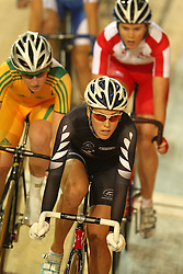 Rushlee Buchanan of New Zealand during the women's scratch race final held at the velodrome at the Indira Gandhi Sports Complex in New Delhi, India on the 7 October 2010..Photo by:  Ron Gaunt/SPORTZPICS/PHOTOSPORT