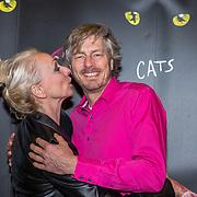 NLD/Amsterdam/20181220 - Premiere musical Cats , Ellen Evers en partner Corne Smiesing