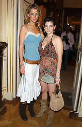 Left to right, KATE MELHUISH and MARTHA FREUD at a fashion show featuring the Miss Selfridge Autumn/Winter '05 collections held at The Wallace Collection, Manchester Square, London W1 on 6th April 2005.<br /><br />NON EXCLUSIVE - WORLD RIGHTS