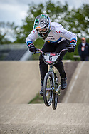 #6 (EVANS Kyle) GBR during practice at Round 3 of the 2019 UCI BMX Supercross World Cup in Papendal, The Netherlands