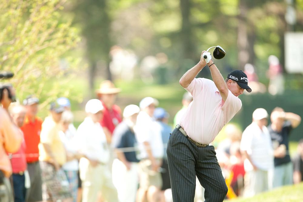 Scott Hoch. 2009 Senior PGA Championship, Round 3. Photographed at Canterbury Golf Club in Beachwood, Ohio on Saturday, May 23 2009. Photograph © 2009 Darren Carroll