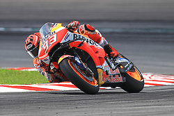 February 8, 2019 - Sepang, SGR, U.S. - SEPANG, SGR - FEBRUARY 08: Marc Marquez of Repsol Honda Team in action during the third and final day of the MotoGP official testing session held at Sepang International Circuit in Sepang, Malaysia. (Photo by Hazrin Yeob Men Shah/Icon Sportswire) (Credit Image: © Hazrin Yeob Men Shah/Icon SMI via ZUMA Press)