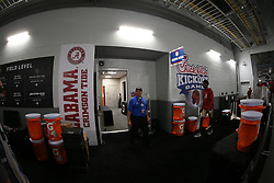 Signage during the Chick-fil-A Kickoff Game at the Mercedes-Benz Stadium, Saturday, August 31, 2019, in Atlanta. Alabama won 42-3. (Chris Eason via Abell Images for Chick-fil-A Kickoff)