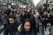 """NAJAT VALLAUD-BELKACEM, Anne Gravoin & MANUEL VALLS - REPUBLICAN IN PARIS ON TERRORISM AND IN MEMORY OF VICTIMS OF ATTACKS IN THE JOURNAL """"WEEKLY CHARLIE"""" AND SUPERMARKET """"HYPER HIDE"""".<br /> ©Exclusivepix Media"""