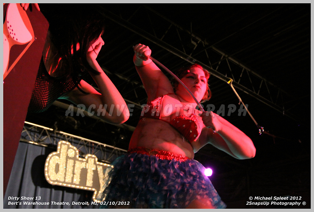 DETROIT, MI, FRIDAY, FEB. 10, 2012: Dirty Show 13, Miss Ruby Nesque at Bert's Warehouse Theatre, Detroit, MI, 02/10/2012.  (Image Credit: Michael Spleet / 2SnapsUp Photography)