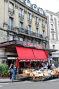 France, Paris, Le Cafe de Paris Typical outdoor cafe