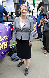 © Licensed to London News Pictures. 04/06/2016. London, UK. Natalie Bennett MP attends the NHS Bursary Cuts Forum demonstration in central London, marching against government cuts to the NHS bursary. Photo credit : Tom Nicholson/LNP