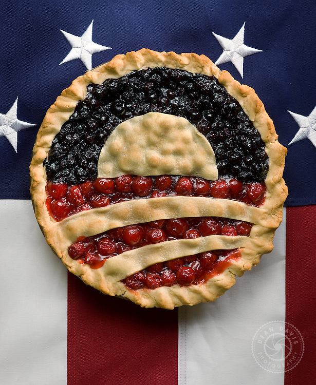 """Spokane Photographer Dean Davis made this image after Barak Obama was elected to his first term. The image is called """"New American Pie"""". I worked with Greg Stiles from Spokane Falls Community College and food stylist, Stephanie Puddy."""