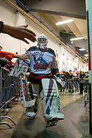 KELOWNA, BC - DECEMBER 27: Cole Schwebius #31 of the Kelowna Rockets exits the dressing for the ice at the start of third period against the Kamloops Blazers at Prospera Place on December 27, 2019 in Kelowna, Canada. (Photo by Marissa Baecker/Shoot the Breeze)