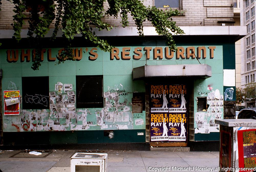 11th Street between F and E NW Washington DC, 1994<br /> Whitlows Facade