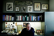 John Anderson at his office, Wednesday, Feb. 21, 2018, in San Francisco, Calif. Anderson is a former advance man to the Robert F. Kennedy campaign. After Kennedy was assassinated, Anderson helped arrange passengers on the funeral procession train that traveled from New York City to Washington, D.C. in June 1968. He still has the original mimeograph list he worked from.