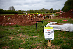Rows of new graves being prepared at High Wood Cemetery, Nottingham. Britain has experienced the highest number of deaths in one week since records began, with hundreds of deaths every day caused by the coronavirus.