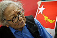 Win Tin, who passed away in April 2014, was one of the leaders of the National League for Democracy and an esteemed writer. He spent 19 years under arrest from 1989 to 2008, undergoing torture, food and water deprivation and abuses. Yangon, Myanmar. 2012