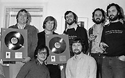 Tim Clarke, Rob Partridge, John Knocker Knowles and others at an Island Records JJ Cale Gold Disc presentation.