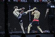 Kampfsport: MMA, We love MMA, Oberhausen, 31.01.2015<br /> Olaf Hommel (Combat Team Hamburg, l.) - Sofian Haj Haddou (Pride Gym Duesseldorf)<br /> © Torsten Helmke