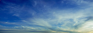 A panorama of cirrus clouds over Cape Cod National Seashore .