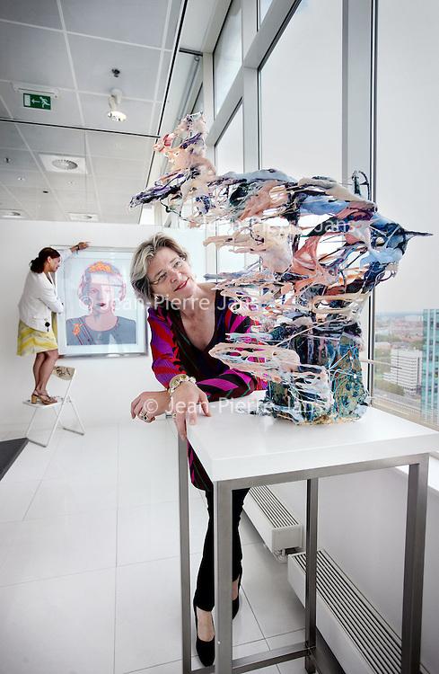 Nederland, Amsterdam , 30 juli 2014.<br /> Marry de Gaay Fortman.<br /> Zij is advocaat en partner bij Houthoff, maar ook voorzitter van VNO-NCW metropool Amsterdam en maakt namens het bedrijfsleven deel uit van de Amsterdam Economic Board. Zij is een bekende in het Amsterdamse zakelijke en culturele netwerk. Zo bekleedde zij een functie in de Raad van Toezicht van het Stedelijk Museum (2004-2014) en is zij nu onder andere commissaris bij het GVB. Marry heeft gestudeerd en gewoond in Amsterdam, maar woonde lange tijd buiten de stad. In augustus komt ze met haar gezin weer naar Amsterdam.<br /> Foto:Jean-Pierre Jans