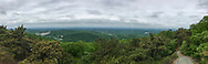 Cornwall, New York - A panoramic view looking west from the Western Ridge Trail on  Schunnemunk Mountain on May 28, 2018.
